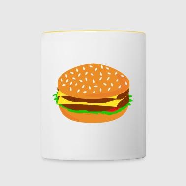 Hamburguesa de barbacoa Foodie idea del regalo de los alimentos - Taza en dos colores