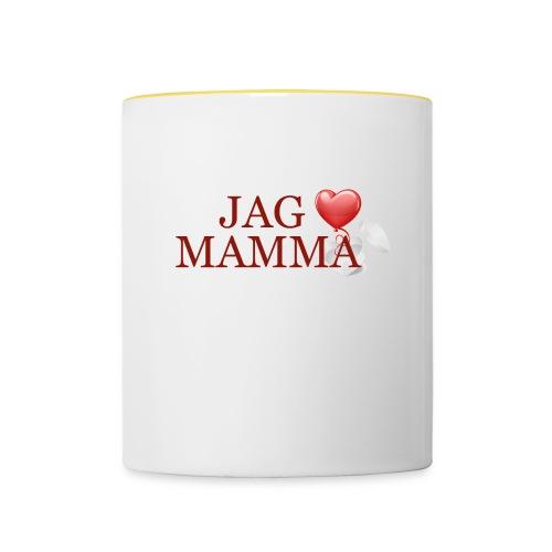 Jag älskar mamma - Tvåfärgad mugg