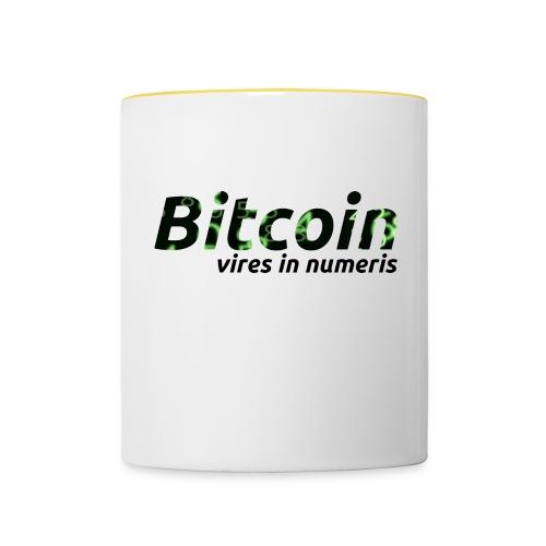 Bitcoin Matrix: Vires in numeris(Bitcoin Geschenk) - Tasse zweifarbig