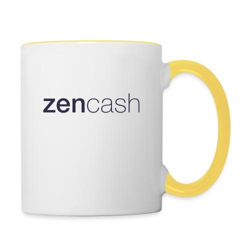 ZenCash CMYK_Horiz - Full - Contrasting Mug