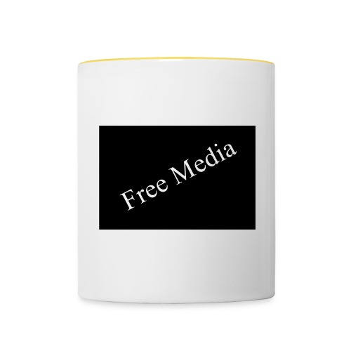 Free Media - Tasse zweifarbig