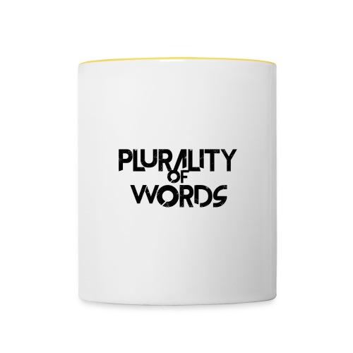 Plurality of Words Merchandise - Contrasting Mug