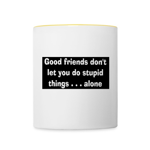 good friends - Contrasting Mug