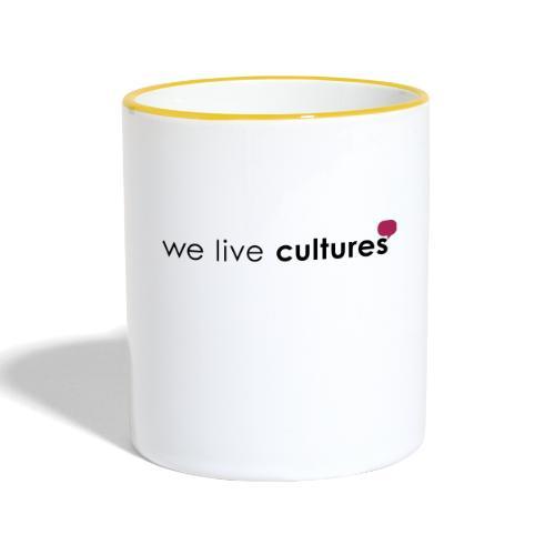 we live cultures - grau & magenta - Tasse zweifarbig