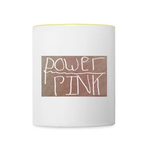 Pink power (girls) - Contrasting Mug