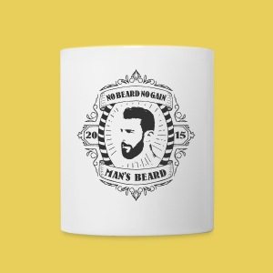 No Beard No Pain - Tasse bicolore