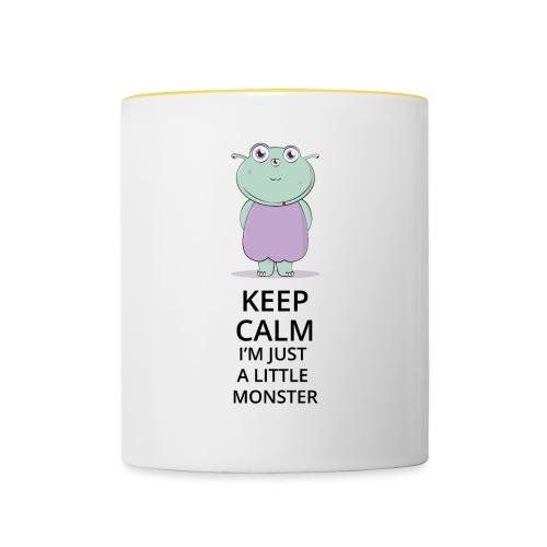 Keep Calm - Little Monster - Petit Monstre - Mug contrasté