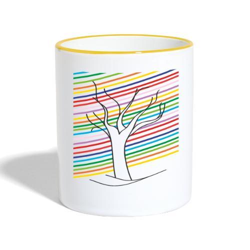 Regenbogenbaum - Tasse zweifarbig