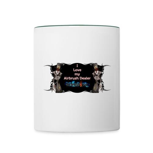 Airbrush Dealer - Tasse zweifarbig