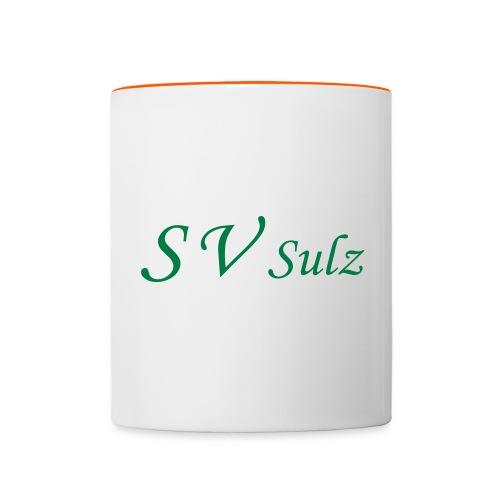 svs schrift 2 - Tasse zweifarbig