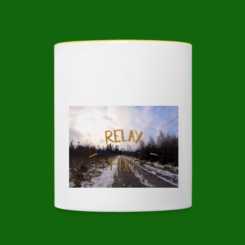 Relax and take a hike - Contrasting Mug