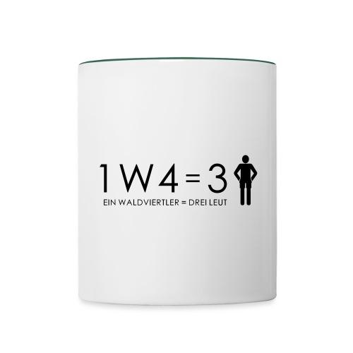 1W4 3L - Tasse zweifarbig