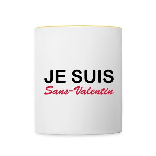 Je suis Sans-Valentin - Mug contrasté