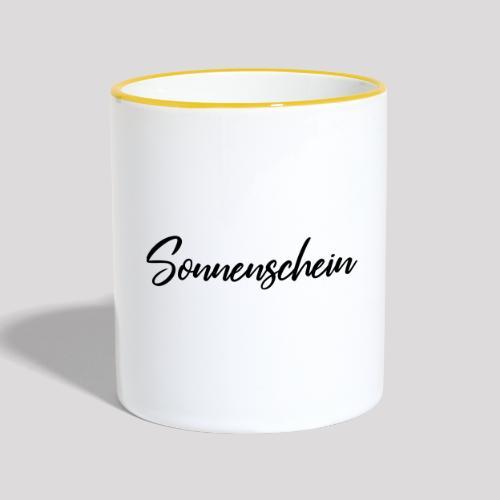 Du bist ein Sonnenschein? - Tasse zweifarbig