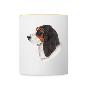 bassethound color - Tofarvet krus