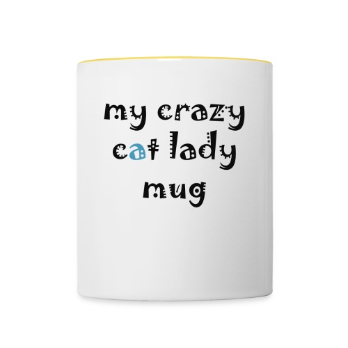 Crazy cat lady mug - Tofarvet krus
