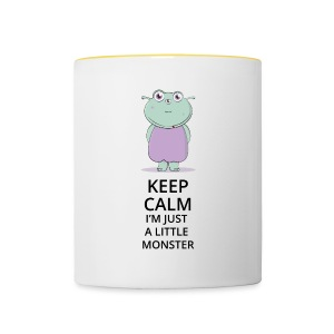 Keep Calm - Little Monster - Petit Monstre - Tasse bicolore