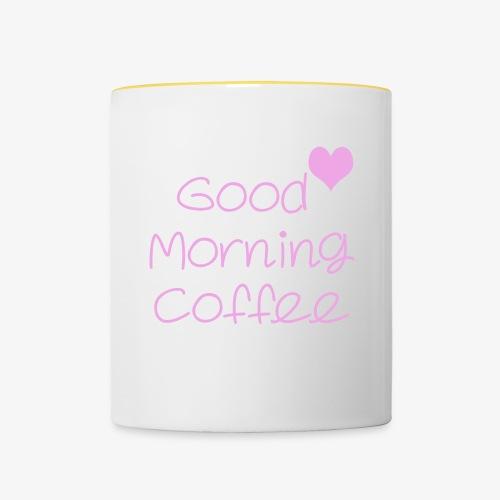 Good Morning Coffee - Tasse zweifarbig