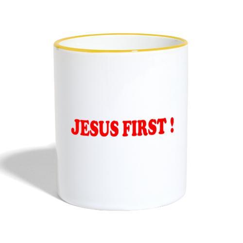 jesus first - Mug contrasté