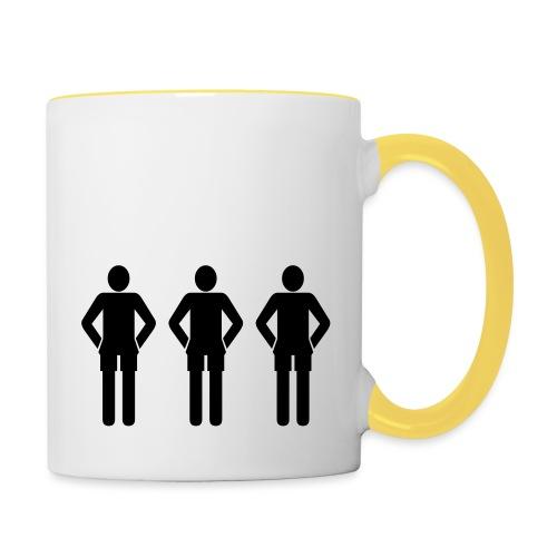 3schwarz - Tasse zweifarbig