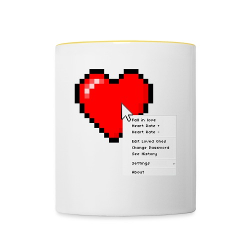 Options of the heart on a mug - Tofarvet krus