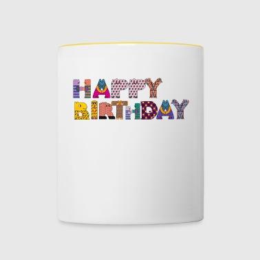 Grattis på födelsedagen - Tvåfärgad mugg