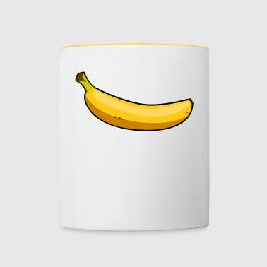banane - Tasse bicolore