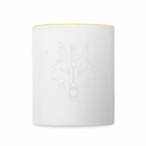MCW - Metacorewolves logo weiß - Tasse zweifarbig