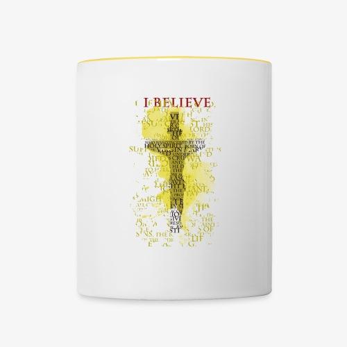 I believe / wierzę (yellow-żółty) - Kubek dwukolorowy