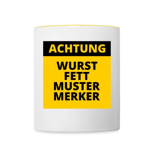 Achtung - Wurstfett! - Taza en dos colores