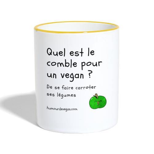 Humourdevegan.com - Comble d'un vegan - Mug contrasté
