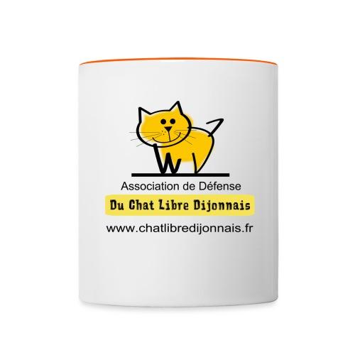 Transparent avec Logo - Mug contrasté