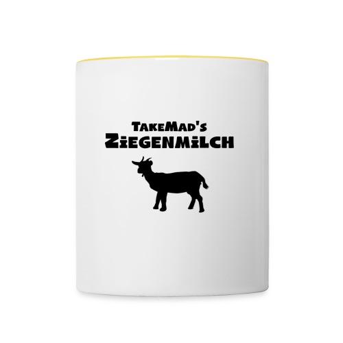 Ziegenmilch Beschriftung - Tasse zweifarbig
