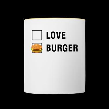 comen hamburguesas amor FOODIE single en solitario valentín - Taza en dos colores