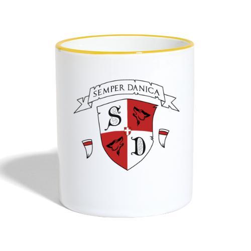 SD logo - hvide lænker - Tofarvet krus