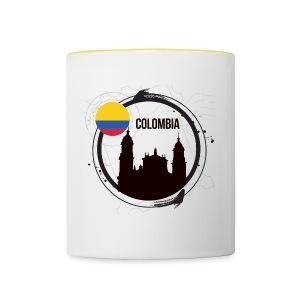 Kolumbien T-Shirt - Tasse zweifarbig