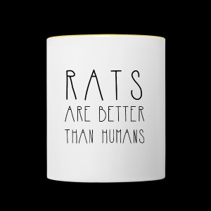 Rats Are Better Than Humans Collection - Contrasting Mug
