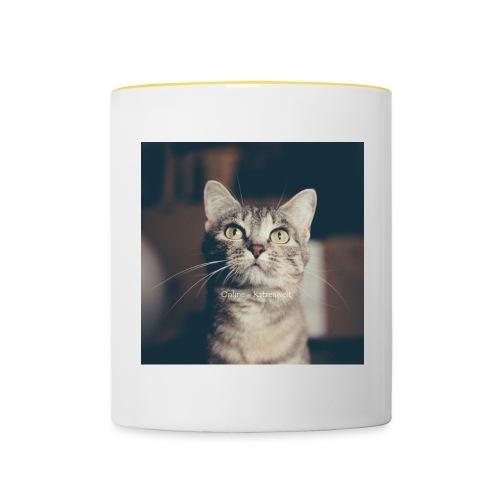 Hauskatzen Blick - Tasse zweifarbig