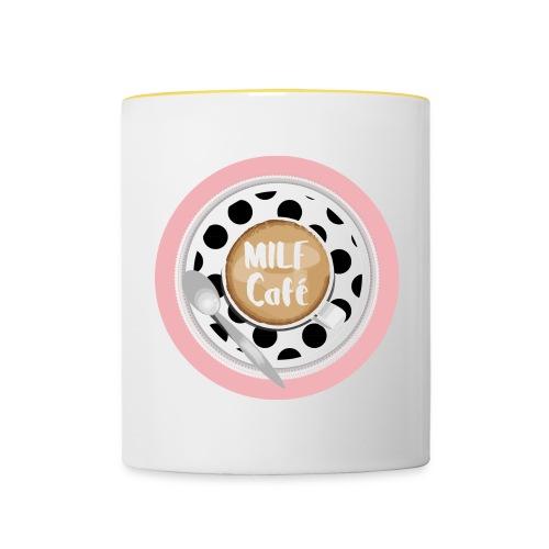 Milfcafé - MILF Logo Instagram Blogger Musthave - Tasse zweifarbig