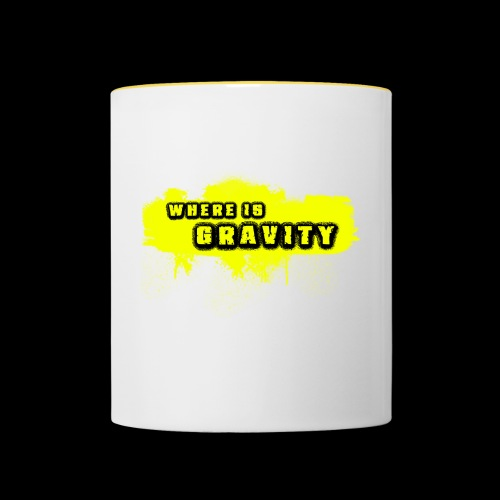 WHERE IS GRAVITY - Taza en dos colores
