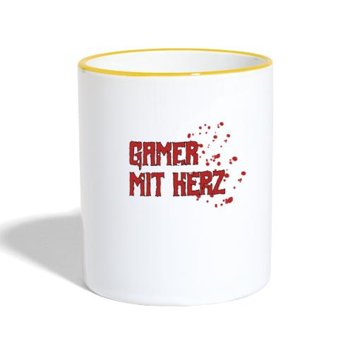 Gamer with heart - Contrasting Mug