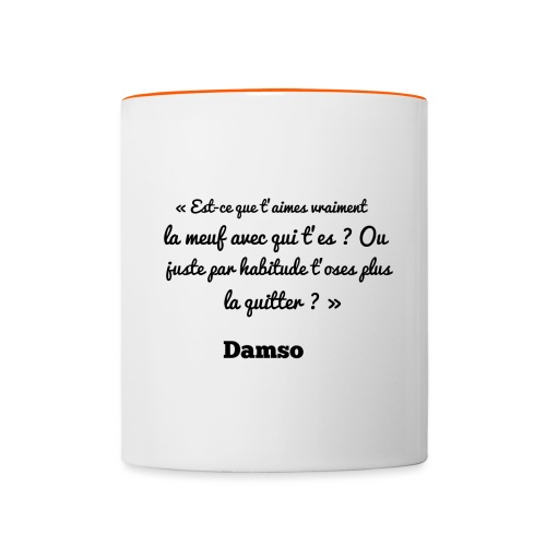 Punchline de Damso - Mug contrasté
