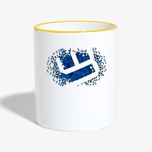 w4sted v2 logo blue - Contrasting Mug