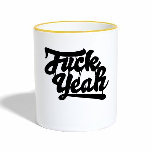 Fuck Yeah - Tasse zweifarbig