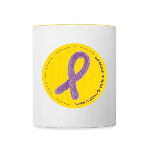 Logo Netzwerk Endometriose - Tasse zweifarbig