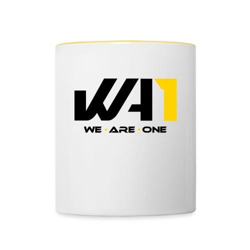 Wir sind eins (schwarze Schrift) - Tasse zweifarbig