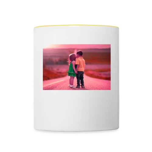 Full HD with hd love - Contrasting Mug