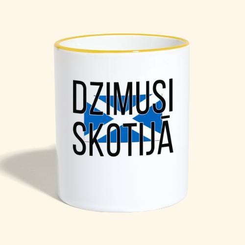 Born in Scotland (Latvian) female only - Contrasting Mug