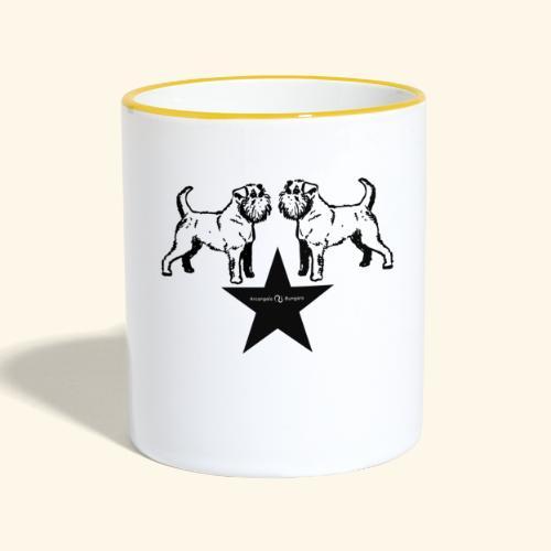Brussels Griffon Logo - Mug contrasté
