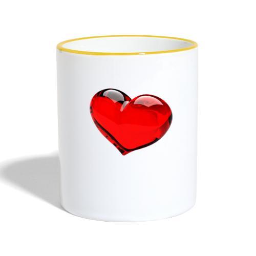 serce 3D - Kubek dwukolorowy